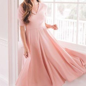 Gal Meets Glam Rose Pink Midi Dress